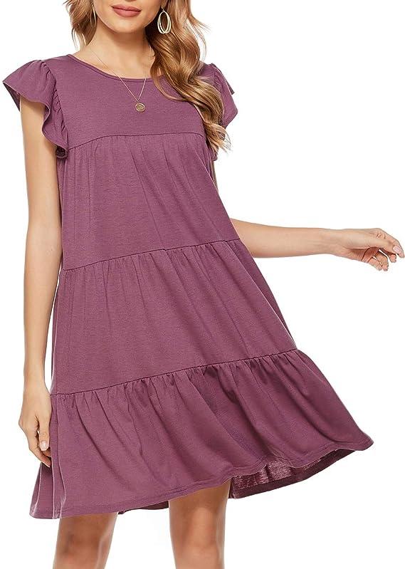 beautiful summer dresses 2021, long purple breathtaking dress