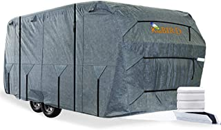 KING BIRD Extra-Thick 4 Layers Travel Trailer RV Cover Anti-UV Top Panel, Durable Camper..