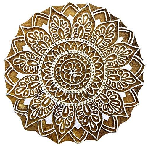 Holzblock Blumenmuster Handgeschnitzten Holzblöcke Textildruck Briefmarken