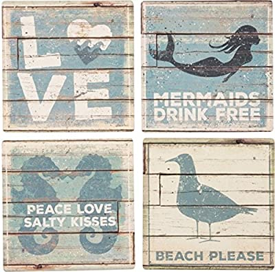 BEACH HOUSE DÉCOR: Primitives by Kathy box sign to match your seashore decor STURDY CONSTRUCTION: Measures 12 x 5-inches; designed to stand freely on a counter top or hang from your beach house wall SENTIMENT READS: I Wasn't Made for Winter, I Want M...