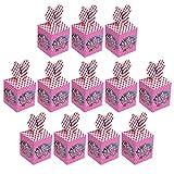 Qemsele boîtes de fête Sac de fête pour Enfant, 12 Pcs Repas boîtes en Carton uni Garçons Filles pour Thème Décorations Réutilisable Sac Cadeau de Fête Anniversaire Noël Sacs de fête (LOL)