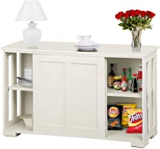 Amazon Com Kitchen Cabinet With Sliding Doors