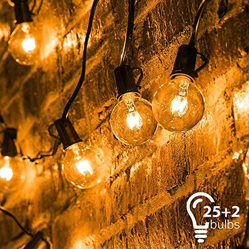 Catena Luminosa, Mture Catena di Lampadina con 25 G40 Bulbi Bianca Calda, Luci Della Stringa...