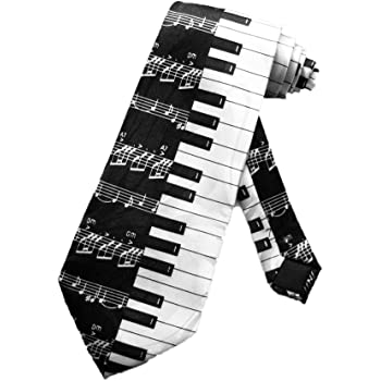 Steven Harris Mens Piano Keys Necktie - Black and White - One Size Neck Tie