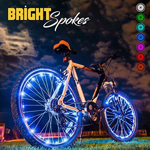 Lifehackist Bright Spokes Luci LED per Ruote Bici Premium - 7 Colori in 1 - Batteria Ricaricabile...