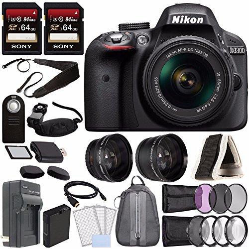Nikon D3300 DSLR Camera with 18-55mm...