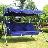 Hollywoodschaukel Gartenschaukel JL51-New Blau - 2