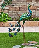 Snoogg 3621000 3621-tr The Lakeside Collection Metallic Peacock Figure, 6-1/2'W x 21' D x 31-3/4'H, Green