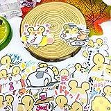 TTBH Etiqueta engomada de Hamst de Dibujos Animados Icono de Anime Pegatinas Bonitas Regalos para niños a Maleta para portátil Guitarra Nevera Bicicleta Coche Juguete 40 Piezas