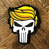 Trump Punisher PVC Morale Patch MAGA – Hook Backed by NEO Tactical