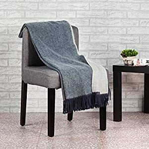 About the throw blanket:100% wool.Size:Approx.130*160CM+2*10CM(Fringe)/51*63IN+2*4IN(Fringe).Weight:660G/23OZ.Microfiber.100% wool throw is delicate,cozy,soft to the touch OEKO Certification & Health,Environmental:Our blankets are Oeko-Tex Standard 1...