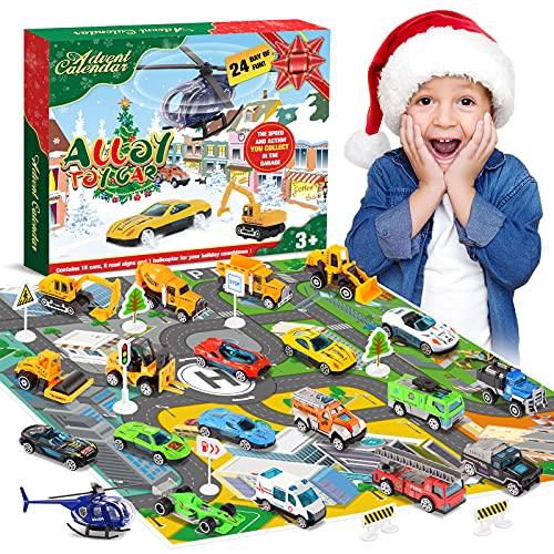Diyfrety Juguetes Niños 2 3 4 5 6 años, Calendario de Adviento 2021 Coches de Juguetes Ideas Regalos Navidad Juguetes Niños Niña 2-7 Años Regalos para Niños de 2-7 años Navidad de Adviento