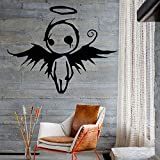 wZUN Ángel Diablo alas Pared calcomanía niños Dormitorio Sala de Juegos decoración del hogar Vinilo Pared calcomanía 42X33cm