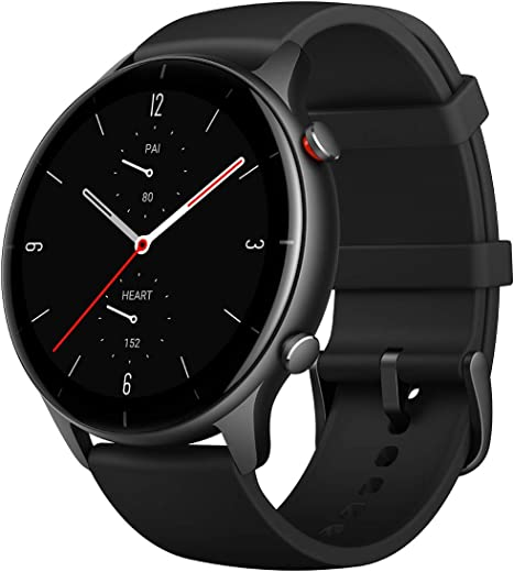 Amazfit GTR 2e Smartwatch with 24H Heart Rate, Sleep, Stress and SpO2 Monitor, Activity Tracker with 90 Sports Modes, 24 Day Battery Life, Black