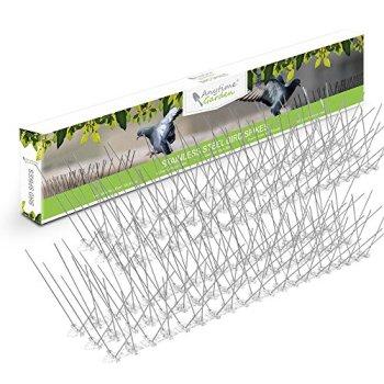 POINÇONS D'OISEAU EN ACIER INOXYDABLE - Répulsif de Pigeon durable - Grande dissuasion pour les oiseaux - Facilité d'installation et d'enlèvement Maintient les parasites sous contrôle Couvertures 3M
