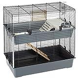 Ferplast Cage à 2 Étages, Clapier avec Accessoires Inclus, en Métal Vernis...