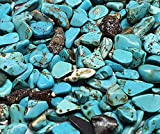 Perlin - Lot de 1000 perles turquoises en pierre précieuse 4 mm ~ 8 mm -...