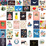 40 Greeting Cards Assortment with Envelopes - Birthday Cards Thank You Cards Wedding Cards Sympathy Cards Anniversary Cards