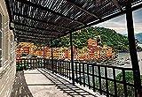 Papier Peint 3D Lac Italien Terrasse Vue Papier Peint Papier Peint Papier...