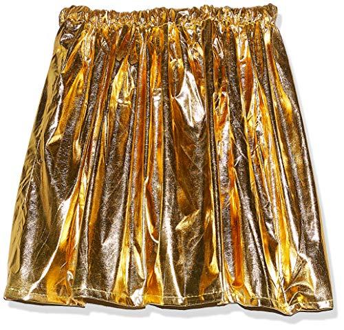 Saia de tecido dourado adulto c/1 un