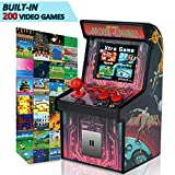 GBD Kids Mini Retro Arcade Game Consoles Machine 200 Handheld Video Games Cabinet 2.5' Display Joystick Travel Portable Game Player Kids Teens Boys Girls Holiday Toys Easter Birthday Gifts