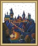 Maydear Full Range of Embroidery Starter Kits Stamped Cross Stitch Kits Beginners for DIY Embroidery kit 11CT 1721(inch) - Magic Castle