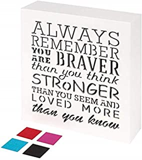 KAUZA Always Remember You are Braver Than You Think – Inspirational Gifts Positive..
