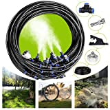 Valgens 2 Set DIY Misting Cooling System, 49.2FT (32.8FT+ 16.4FT) Misting Line, Patio Misting System...