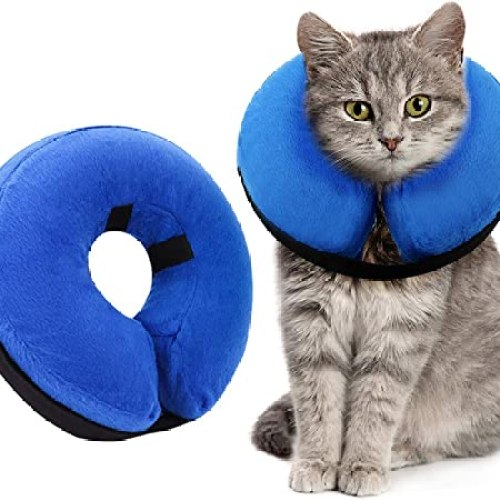 Inflatable Cat Cone Collar for After Surgery