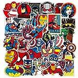 WYZNB Pegatina de superhéroe MarvelStickersAvengers Spiderman Iron Man calcomanía impermeable extraíble carro adhesivo 100pcs