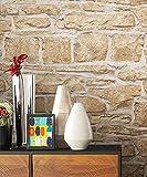 Newroom Papier peint motif mur de briques, Papier peint au design 3D de...