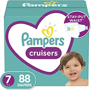 Diapers Size 7, 88 Count – Pampers Cruisers Disposable Baby Diapers, ONE MONTH..