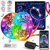 LED Strip Lights, HueLiv 32.8FT 5050RGB Color Changing Kit with 40 Keys Remote APP and Bluetooth...