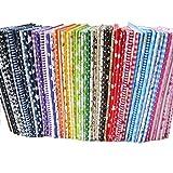 BYY 56pcs/lot 9.8' x 9.8' (25cm x 25cm) No Repeat Design Printed Floral Cotton Fabric...