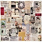 Vintage Journaling Stickers 70pcs Junk Journal Ephemera Kits Collage Paper for Decoupage Scrapbooking Supplies,Mixed Media,Smash Books,Art Journals,Collage and Altered Art by Vilikya