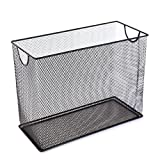U Brands Mesh Steel Desktop Hanging File Holder, Letter Size, 12.4' x 9.53' x 5.5', Black - 457U00-06