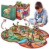 Prehistoric World - Jouet en Forme de Dinosaure - 12 Figurines de Dinosaures -...