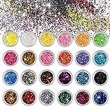 Brillos para Cuerpo Maquillaje Glitter para Cara Ojos Maquillaje Pelo Arte...