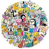 LANYU Paquete de Pegatinas de Tiempo de Aventura para niños, papelería DIY, portátil, teléfono, monopatín, Maleta de Viaje, Dibujos Animados, Pegatina de Anime, 100 Uds.