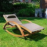 Relax Schaukelstuhl Rio, Relaxliege mit Armlehnen, Gartenmöbel aus vorbehandeltem Holz - 4
