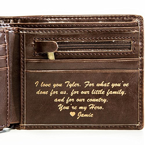 Personalized Mens Wallet - Leather Wallet, The Perfect Mens...