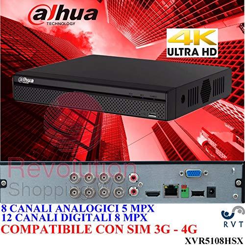 Dahua Technology - XVR 8 Canali XVR HDCVI HDTVI AHD ANALOGICO + 4 CANALI IP 8 MP H.265+ Dahua - XVR5108HSX