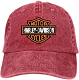 SBLB - Gorra ajustable con logotipo de Harley Davidson para mujer y hombre, color rojo