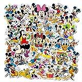 WOCAO Disney Cartoon Mickey Mouse Waterproof Sun Suitcase Guitar Notebook Trolley Case Car Sticker Kid Bubble Stickers Toy Gift 50Pcs