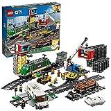 LEGO City - Le train de marchandises télécommandé - 60198 - Jeu de Construction