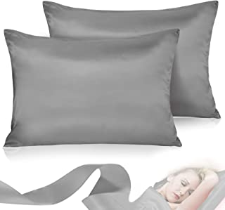 Leccod 2 Pack Silkly Satin Pillowcase for Hair and Skin Cool Super Soft and Luxury Pillow..