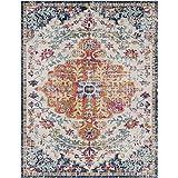 Artistic Weavers Odelia Updated Traditional Rug Orange/Navy 7'10' x 10'3