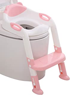 711TEK Potty Training Seat Toddler Toilet Seat with Step Stool Ladder,Potty Training..