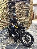Black Tab SOA Gilet Moto Noir en cuir d'épais USA 1.3 coupe cuir Buffalo L US...