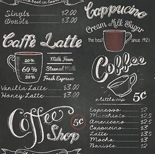 Carta da parati, lavagna per caffetteria (1pezzo)